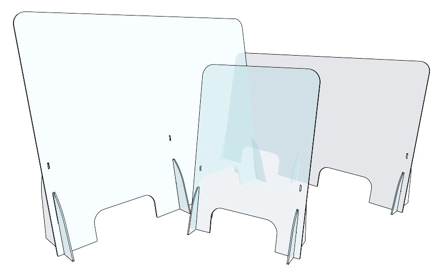 Pannelli Divisori Per Esterni In Plastica.Barriera Parafiato In Plexiglass Pannelli Parasputi Divisori Su